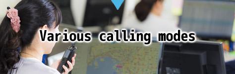 Various calling modes