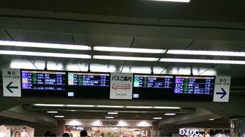 枚方市駅中央 案内モニター
